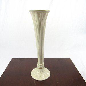 """Lenox Vase 9"""" Ivory Porcelain with Gold Trim"""